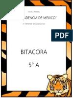 Bitácora Para El Maestro Tigre