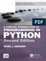 [Chapman & Hall_CRC Textbooks in Computing] Mark J. Johnson - A Concise Introduction to Programming in Python, Second Edition (2018,