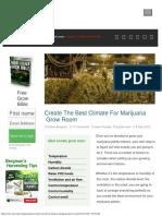 Create the Best Climate for Marijuana Grow Room