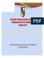 Standarisasi Harga Barang Dan Jasa TA 2018