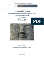 The Asian EFL Journal Professional Teaching Articles 2011 August