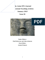 The Asian EFL Journal Professional Teaching Articles January 2015