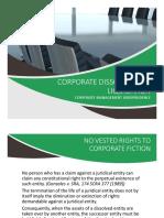 Corporate Dissolution and Liquidation