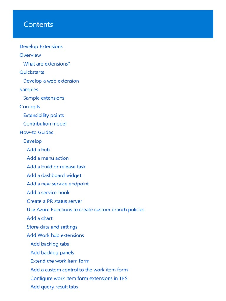 VSTS Extension | Microsoft Visual Studio | Java Script