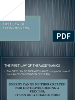 Unit 4 - First Law of Thermodynamics