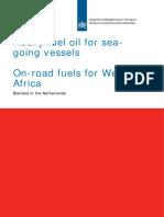 Rapport de l'état néerlandais sur les carburants en Afrique de l'Ouest