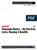 Chamunda Mantra - Om Aim Hrim Klim_ Lyrics, Meaning & Benefits