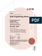 ISO Quality Certificate SEW 9001 2008
