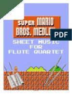 Super Mario Bros. Medley - Flute Quartet-Flute 1