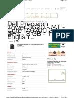 Dell Precision Tower 3620 Mt Core