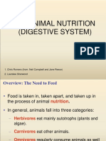 """Teori Fisiologi Hewan """"Animal Nutrition - Digestive System"""" by Bu Indri Garnasih"""