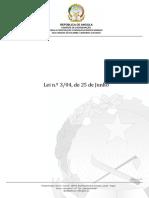 Lei n.º 3 04, De 25 de Junho Lei Do Ordenamento