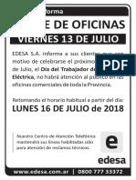 Día Del Trabajador de La Energía Eléctrica 2018