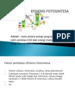 "Teori Ekologi terestrial ""FISIENSI FOTOSINTESA"" by Bu Fahma Wijayanti"