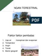 """Teori Ekologi terestrial """"Lingkungan Terestrial"""" by Bu Fahma Wijayanti"""