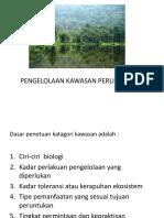 """Teori Ekologi Terestrial """"pengelolaan kawasan perlindungan"""" by Bu Fahma Wijayanti"""