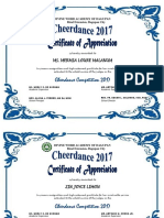Cheerdance Certificate