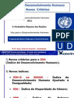 14ª Aula - IDH Novos Critérios