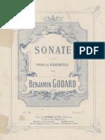 Godard Sonate for Cello and Piano - Piano score