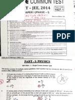 Phase Test I - FIITJEE.pdf