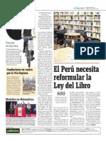 El Perú Necesita Reformular La Ley Del Libro