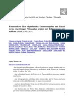 Liste Digitalisierter Gesamtausgaben Und Einzelwerke Einschlaegiger Philosophen(1)