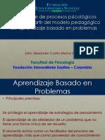 Aprendizaje de Procesos Psicológicos Básicos a Partir Del Modelo Pedagogico Del Aprendizaje Basado en Problemas