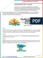 Commonwealth Games 2018 – Overview by AffairsCloud