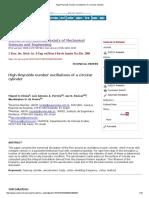 High Reynolds Number Oscillations of a Circular Cylinder