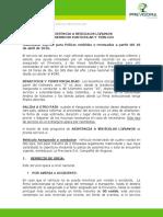 Asistencia Vehicular Livianos 2016 -Previsora