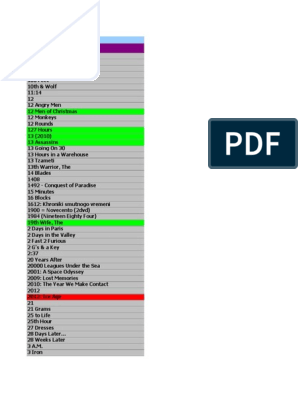 86659561 Lista Dvd 6600 Titluri Noiembrie 2011pdf