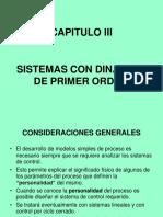 Capitulo III Dinamica de Primer Orden 2017