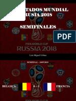 Luis Miguel Urbina - Resultados Mundial Rusia 2018, Semifinales