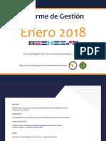Informe de Gestión - Enero 2018