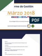 Informe de Gestión - Marzo 2018