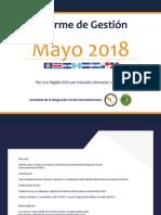 Informe de Gestión - Mayo 2018