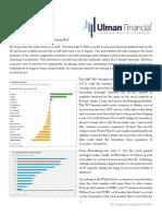 Ulman Financial 3rd Quarter Newsletter - Trade Worries Rattle Aging Bull