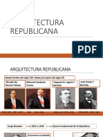 ARQUITECTURA REPUBLICANA EN EL PERÚ