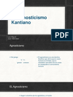 El Agnosticismo Kantiano