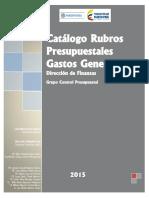 Catalogo Rubros Presupuestales
