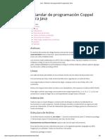 Estándar de Programación Para Java