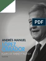 AMLO Equipo y Agenda 10jul2018