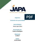 Tarea I de Evaluacion de La Perso. (2)
