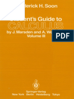 Student's guide to Calculus by J. Marsden and A. Weinstein, Volume III.pdf