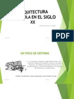 Arquitectura Española en El Siglo Xx