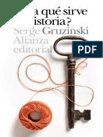 「Gruzinski, Serge」 Para qué sirve la historia (Alianza Editorial).epub