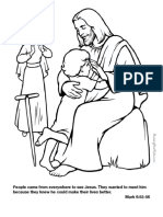 Mark 6.53-56 Coloring Page