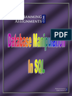 SQL Homework Sample