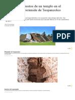Aparecen Los Restos de Un Templo en El Interior de La Pirámide de Teopanzolco