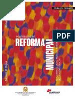 Propuestas de Reforma Municipal